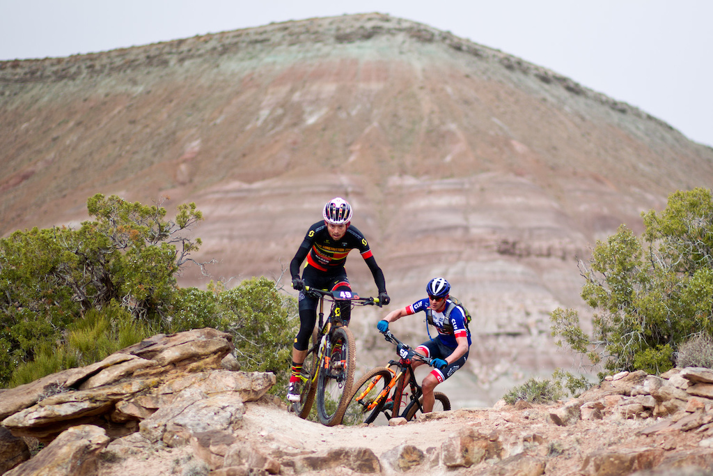 riders Cal Skilsky leads Ben Sonntag
