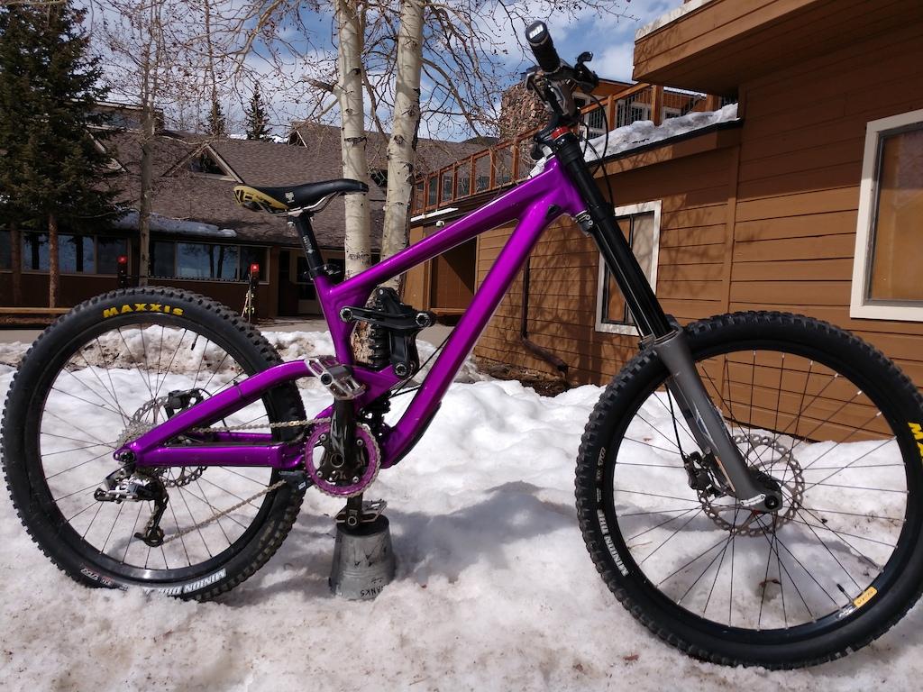 New to me custom powder coat purple 2013 Scott gambler