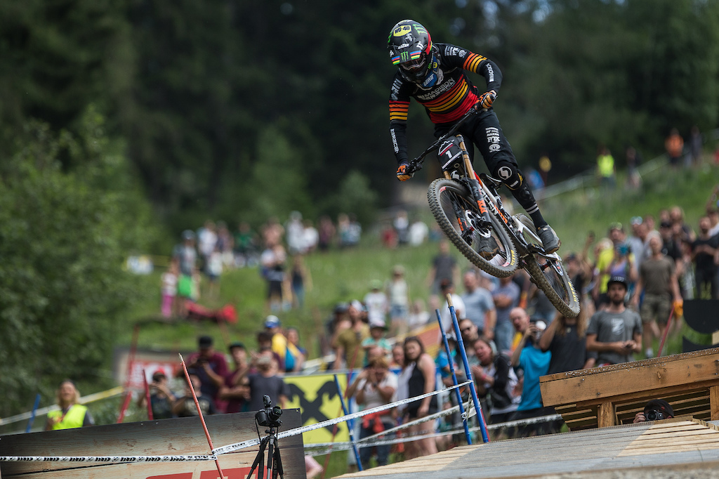 Race action from the IXS Innsbruck Downhill presented by Reifeissen Club. Credit Fraser Britton Crankworx 2018
