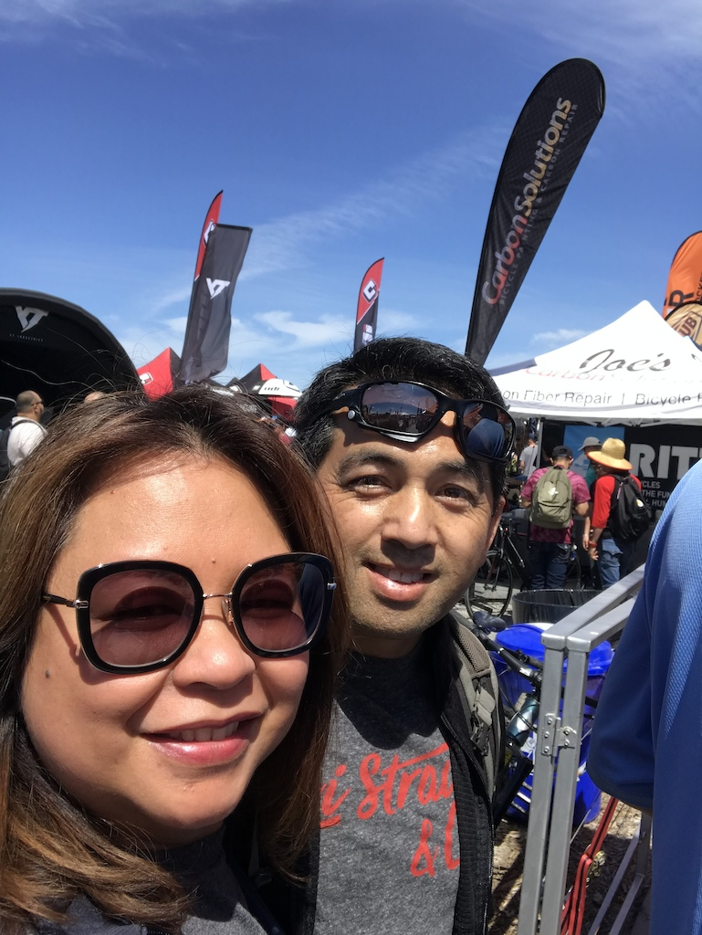 Sea Otter Classic 2019 with my number one fan, my lovely wife.