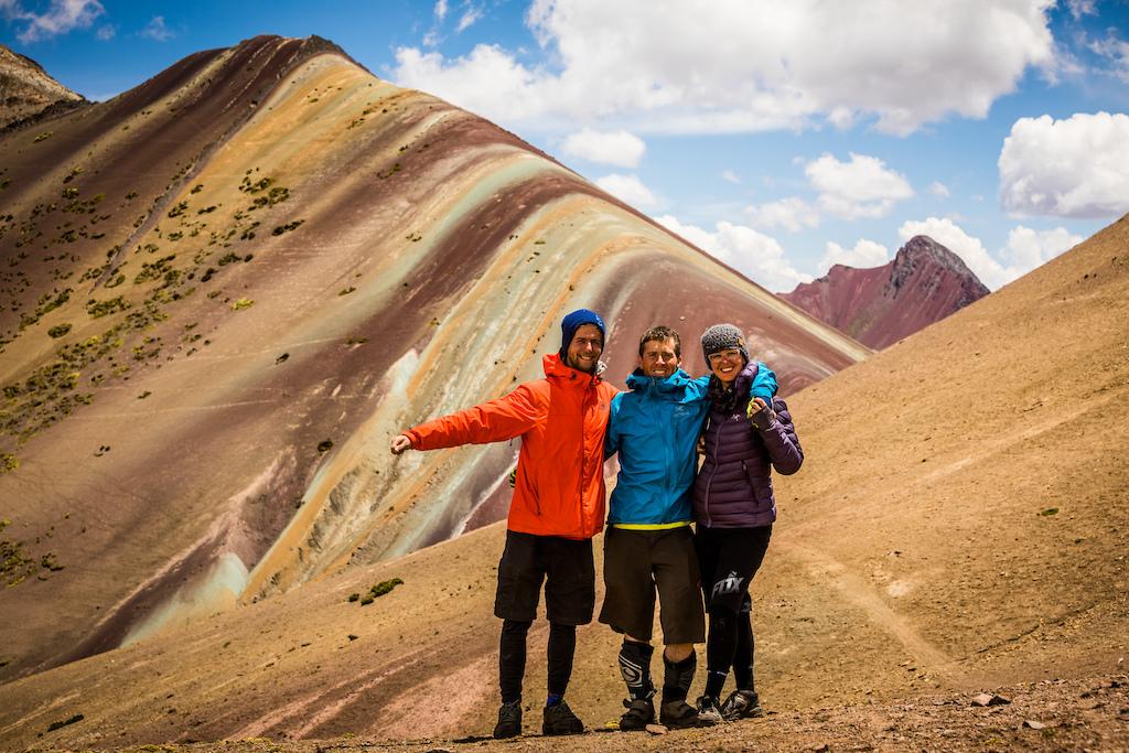 JUSTA JESKOVA PHOTO Standing in front of Rainbow Mountain
