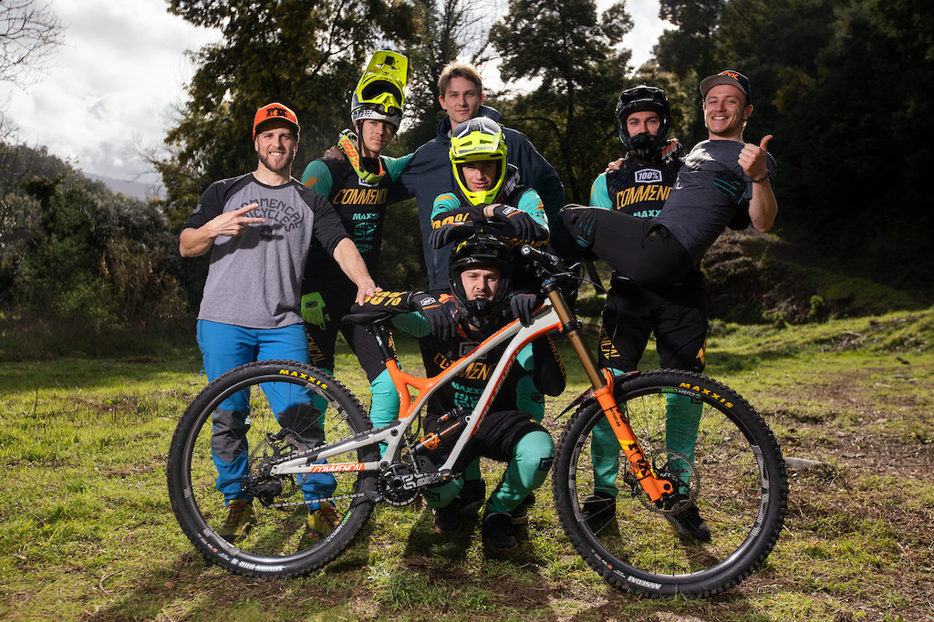 The 2019 Commencal 100 World Cup DH squad. COMMENCAL Nico Brizin