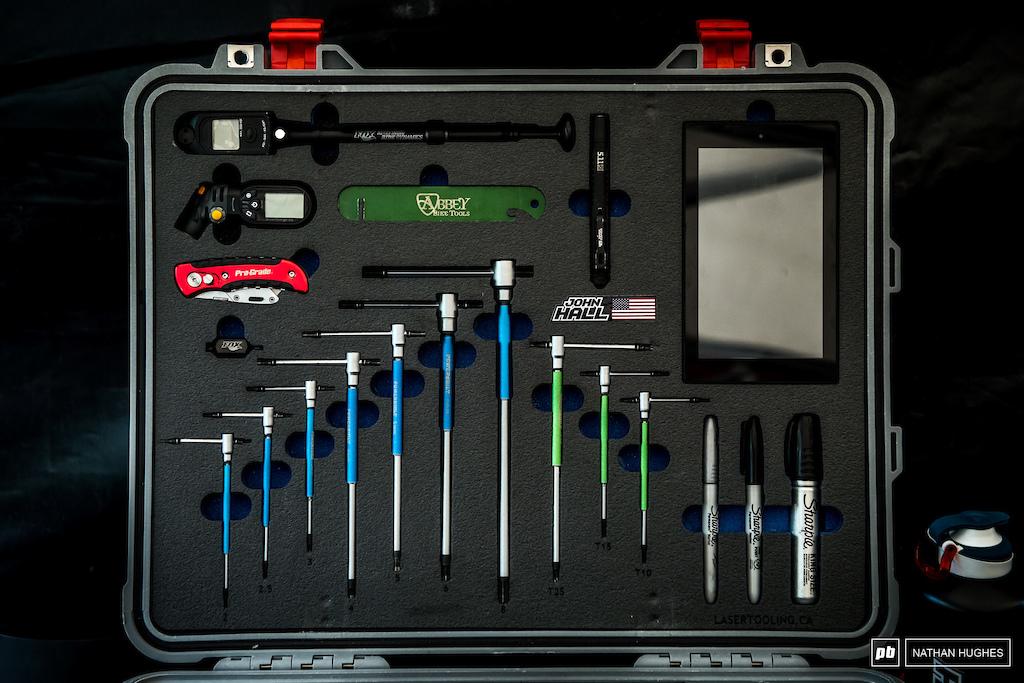 John Hall s beautifully foamed-out fully OCD toolbox.