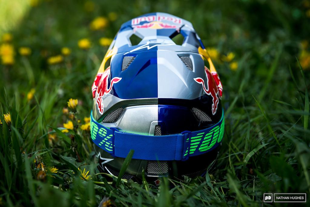 Brook Macdonald s all new Alpinestars full face helmet.
