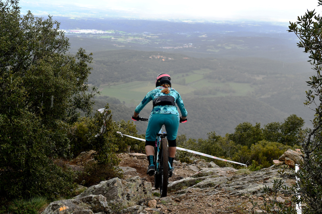 Marketa Michalkova on one of the breath taking switchbacks on the 4th stage