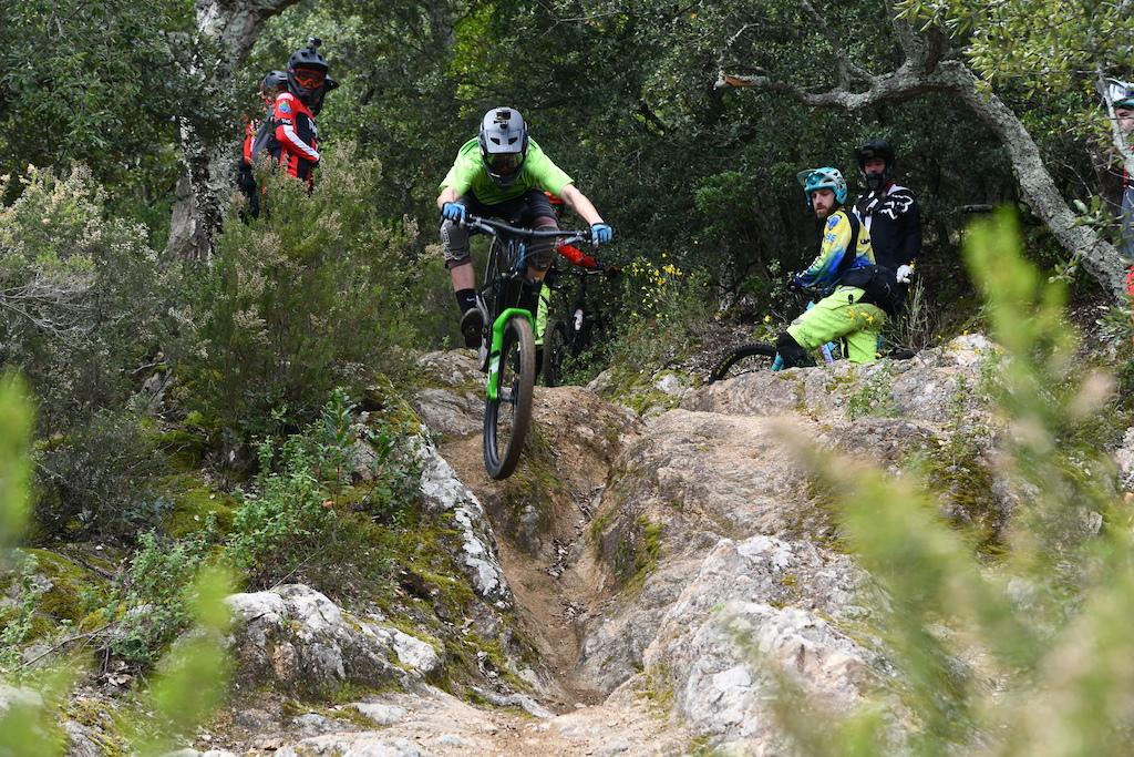 Junior rider Nacho Valverde showing how is done to the older guys