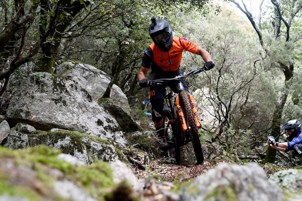 Cube local rider Alvaro Haro looked fast and smooth on the gnarliest sections