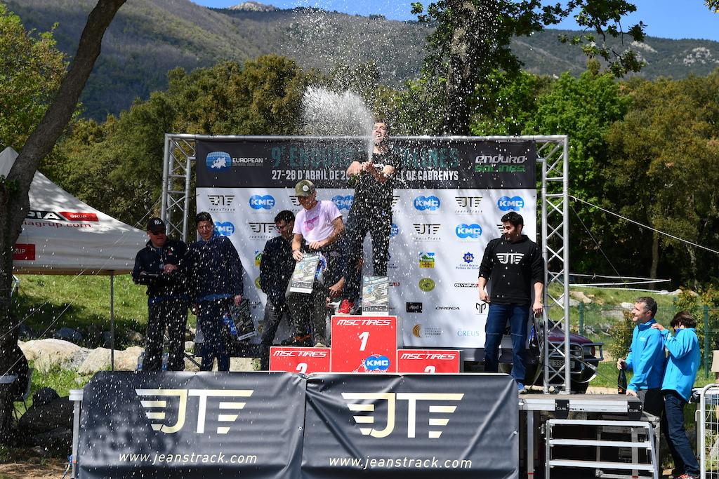 eBikes podium with Ivan Riera Albert Hereu and Joan Alert