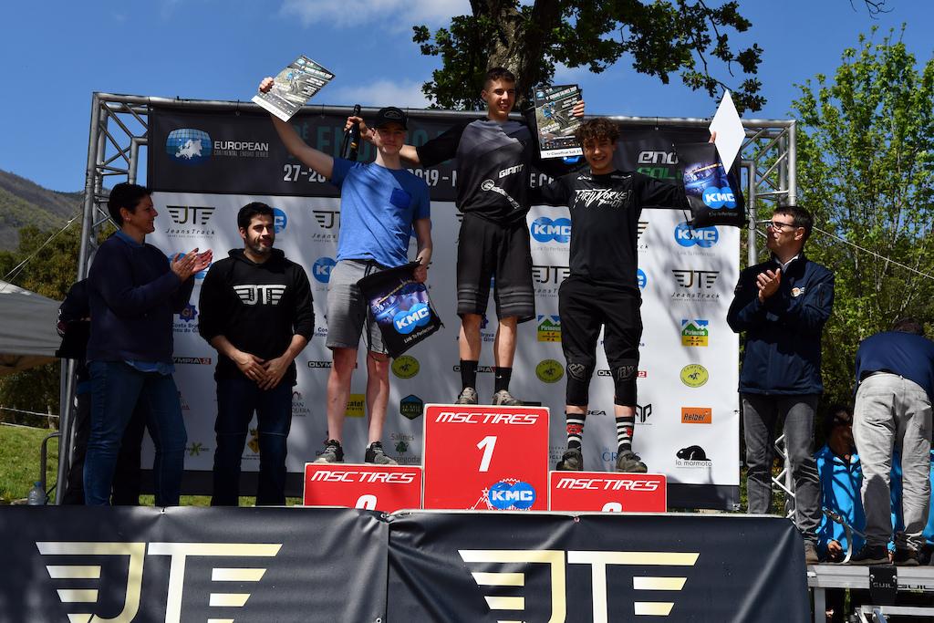 Under21 podium with Nacho Valverde Nicola Grotti and Ola Javold