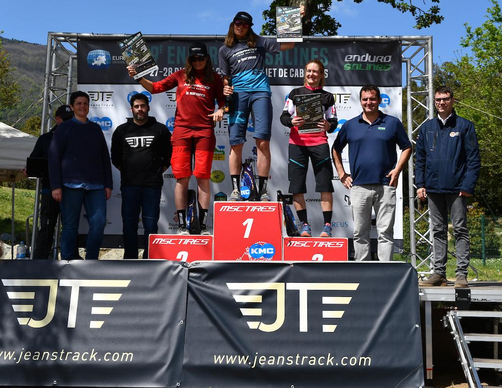 Elite women podium with Anita and Caro Gehrig and Marketa Michalkova