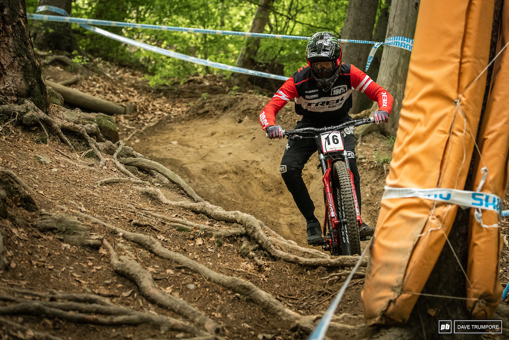 What a day for Charlie Harrison and the new Trek Factory DH program.