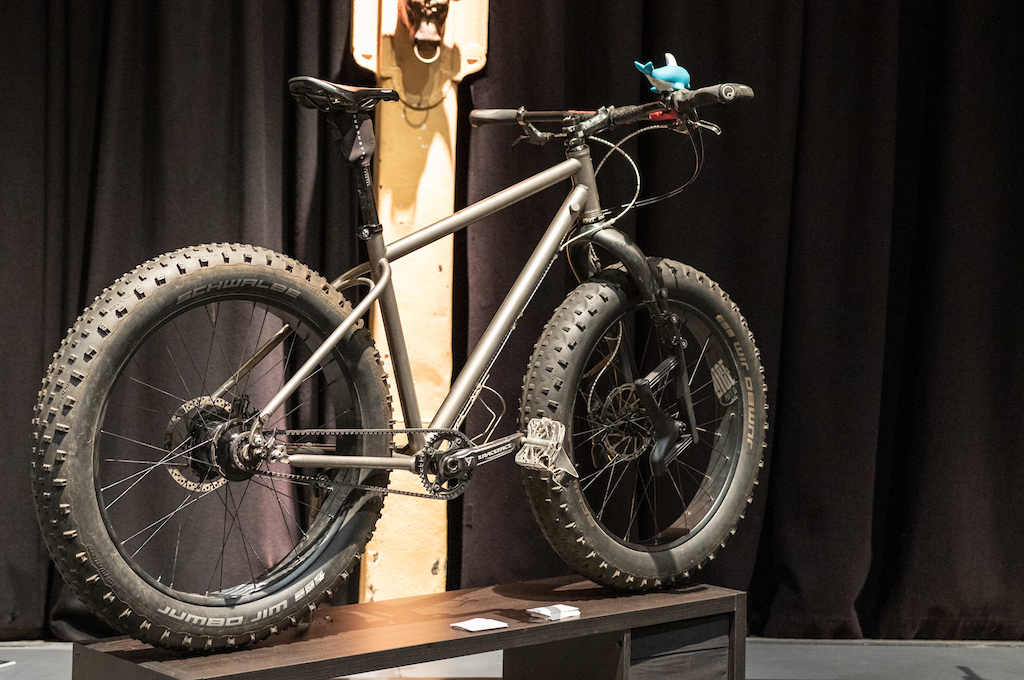 Fikas titanium fat bike tourer.