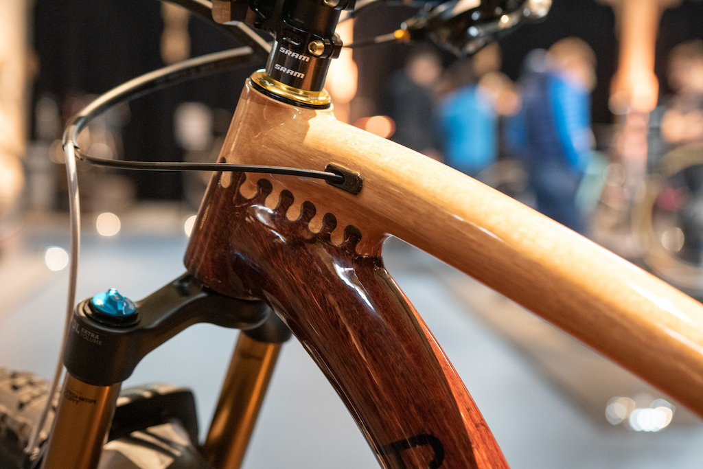 H-Tech mountain bike. Australian made custom engineered wooden bikes.