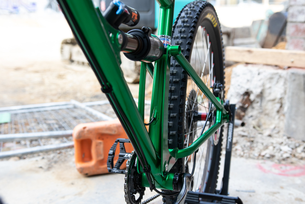 TOR Enduro bike - custom steel dual suspension our of Beechworth Victoria.