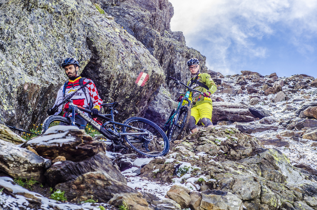 The trail was so technical even for our pro rider Marcello Pesenti
