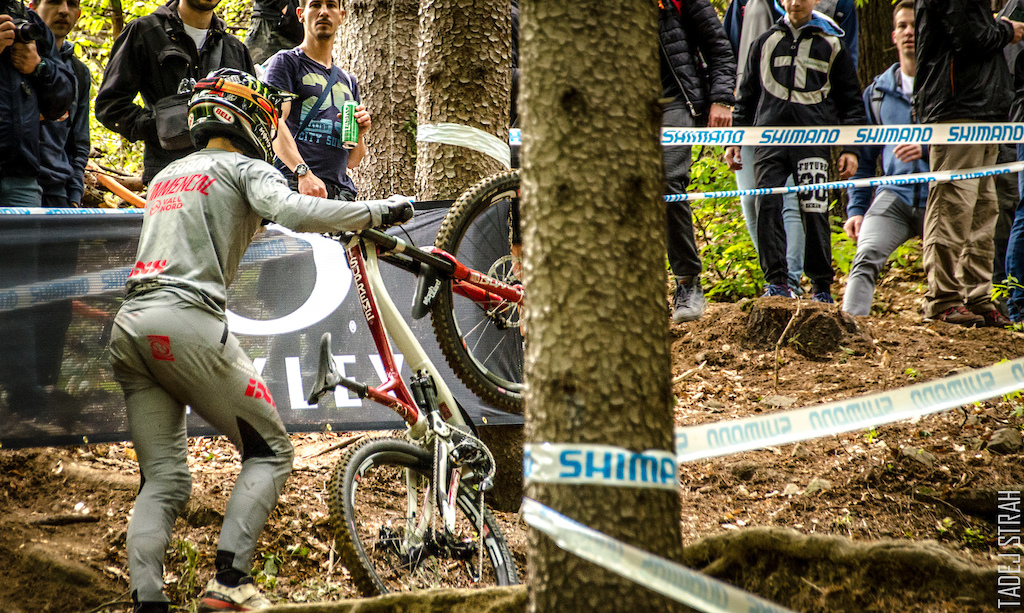 Pierron giving this section of track another go in practice