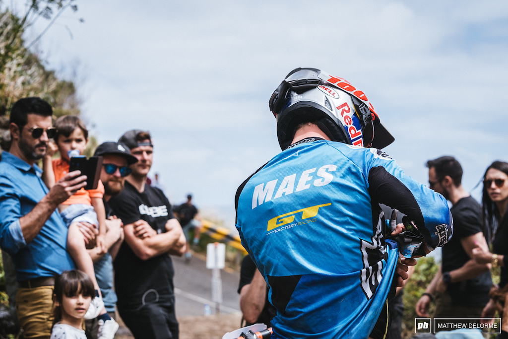Martin Maes was digging for the fuel after digging deep on stage two.