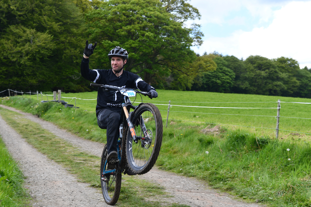Race organizer Glyn O Brien always ready to have fun in between all the stress of event organization