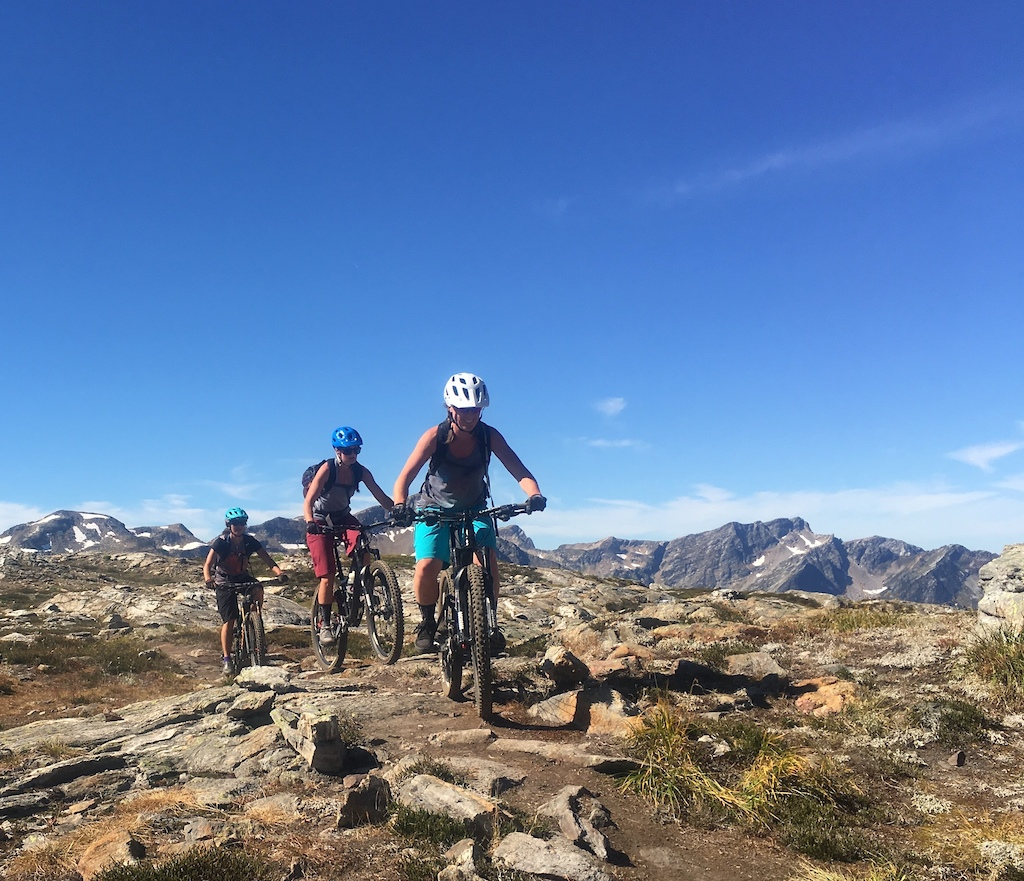 Riding along with epic views at Sol Mountain