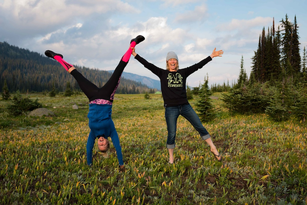 playing around in the meadows at Sol Mountain