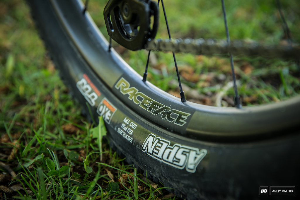 Maxxis Aspens to Raceface hoops.