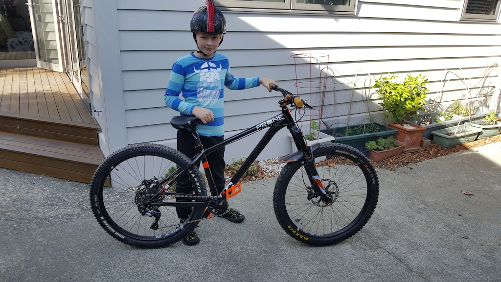 Oliver with his new Stead almost ready to hit the trails