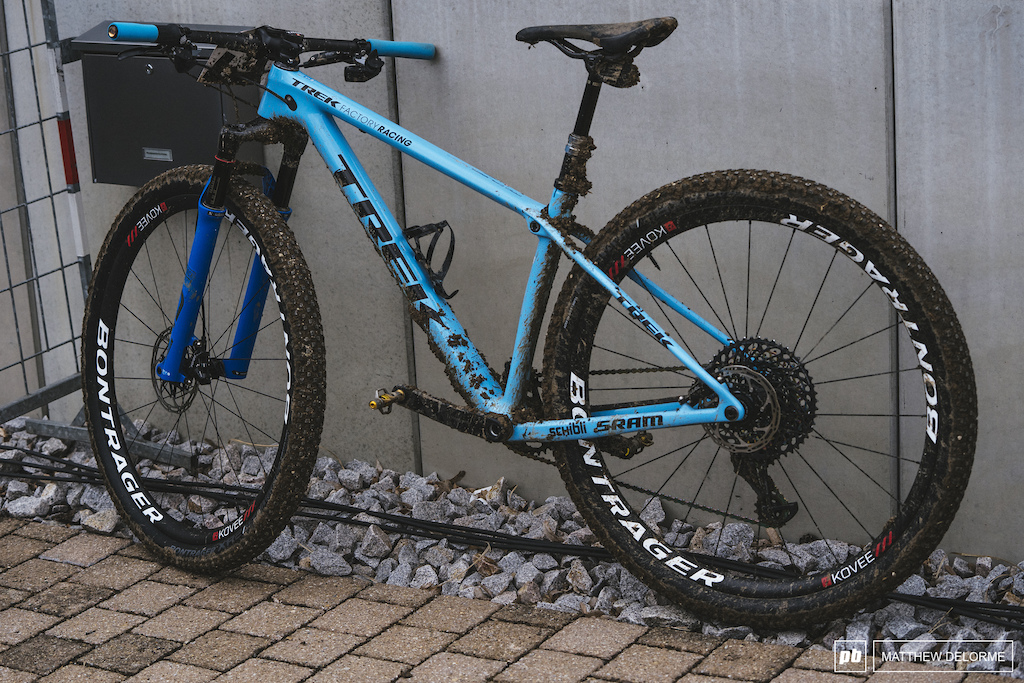 Jolanda Neff rode a dropper. Neff typically prefers a dual suspension bike but the course in Albstadt didn t necessitate one. Will she take the weight penalty on a dual suspension rig at future rounds