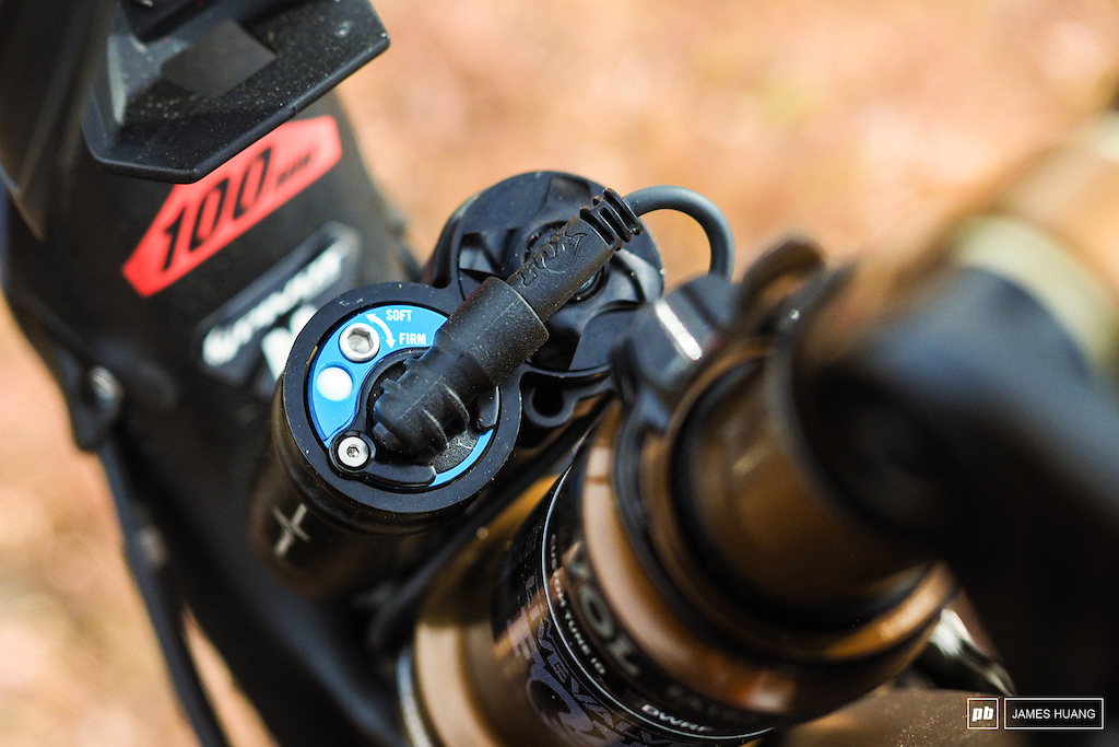 Fox Live Valve is an option across the board on the Mach 4 SL and it s absolutely incredible on the trail. That said there s still some time required to get the initial setup how you want it.