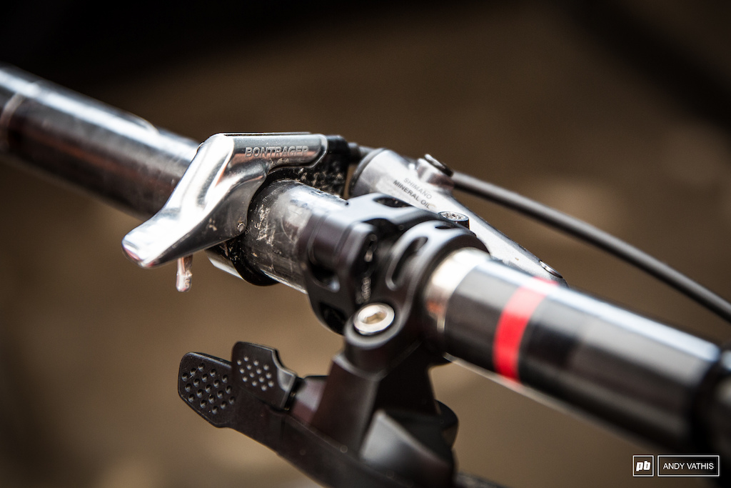 The JBG is actuated by a Bontrager trigger.