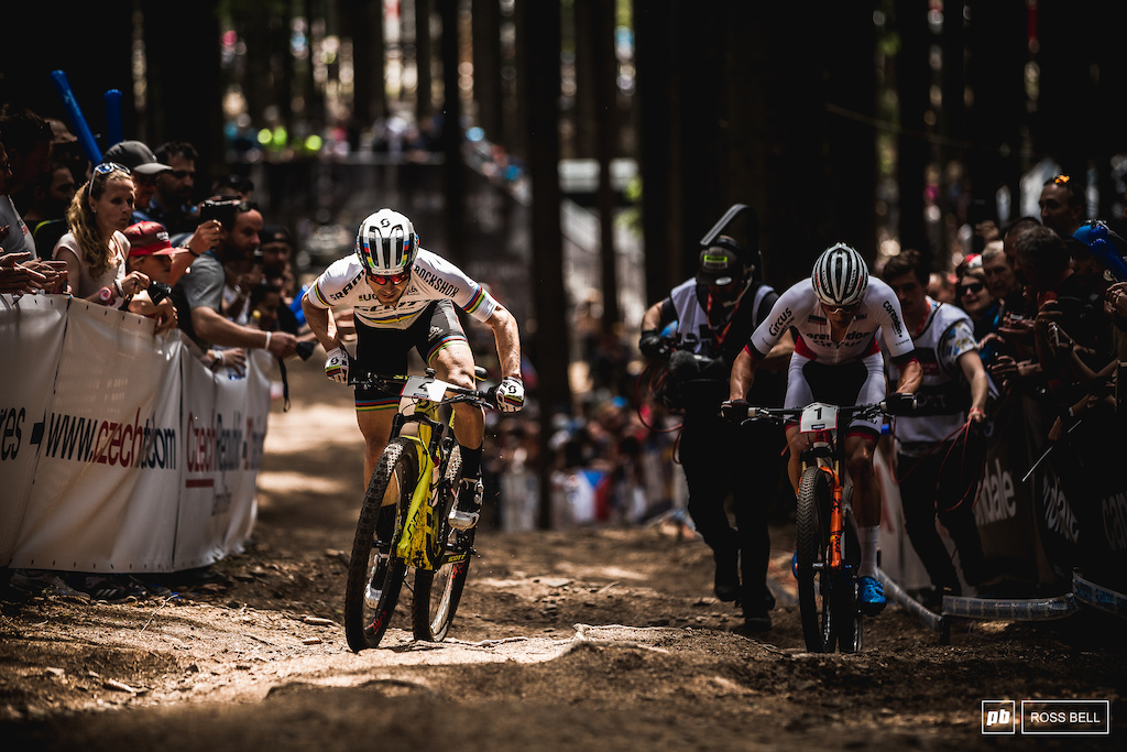 Nino Schurter s every move was being closely monitored.