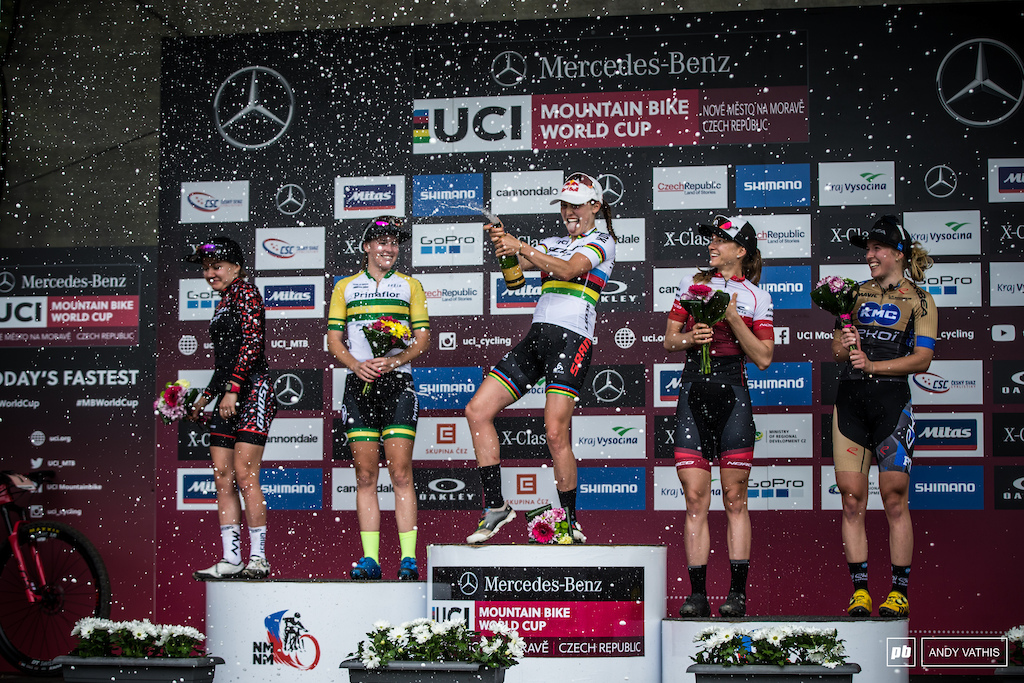 Elite Women s podium.