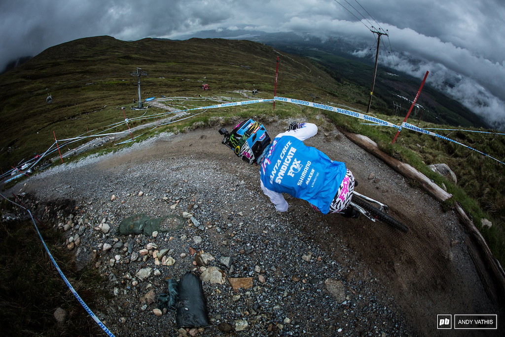 Loris Vergier showed us  very well today that he's got the pace to rough here in Scotland no matter the conditions.
