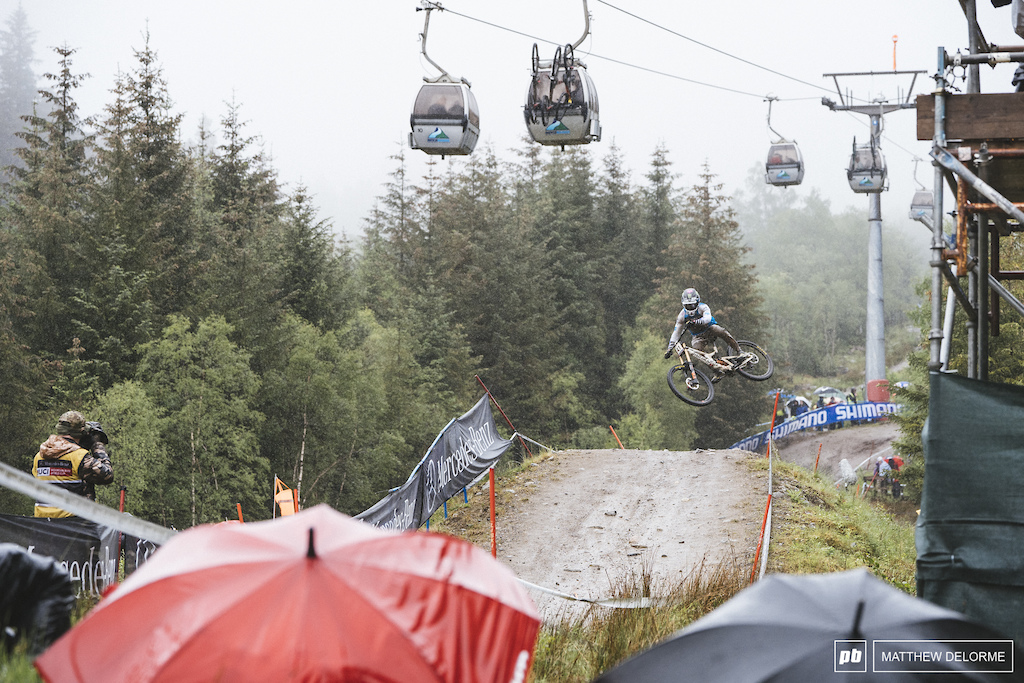 Loris Vergier couldn't hold off Brosnan and Pierron. Vergier had to settle for third.