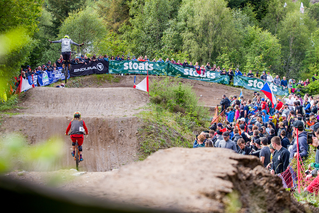 during Round 1 of the 2019 4X Pro Tour at Nevis Range Fort William Scotland United Kingdom on June 01 2019. Photo Charles A Robertson