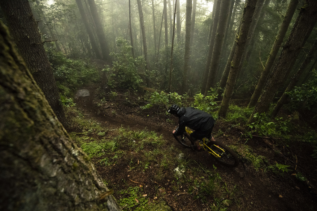 First stage of the day and unknown trail conditions kept riders on their toes from top to bottom.