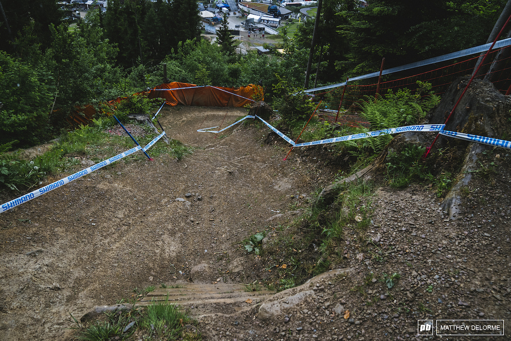 Hard drops at high speed. That berm has been blown before.