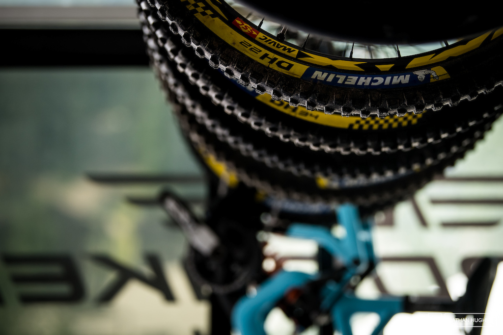 MS Mondraker have been enjoying running the Michelin prototype DH 22 tyres.