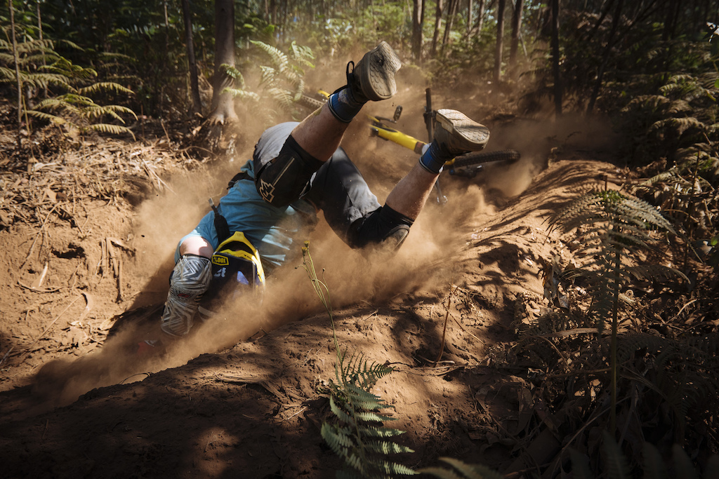 How not to ride the deep dust.