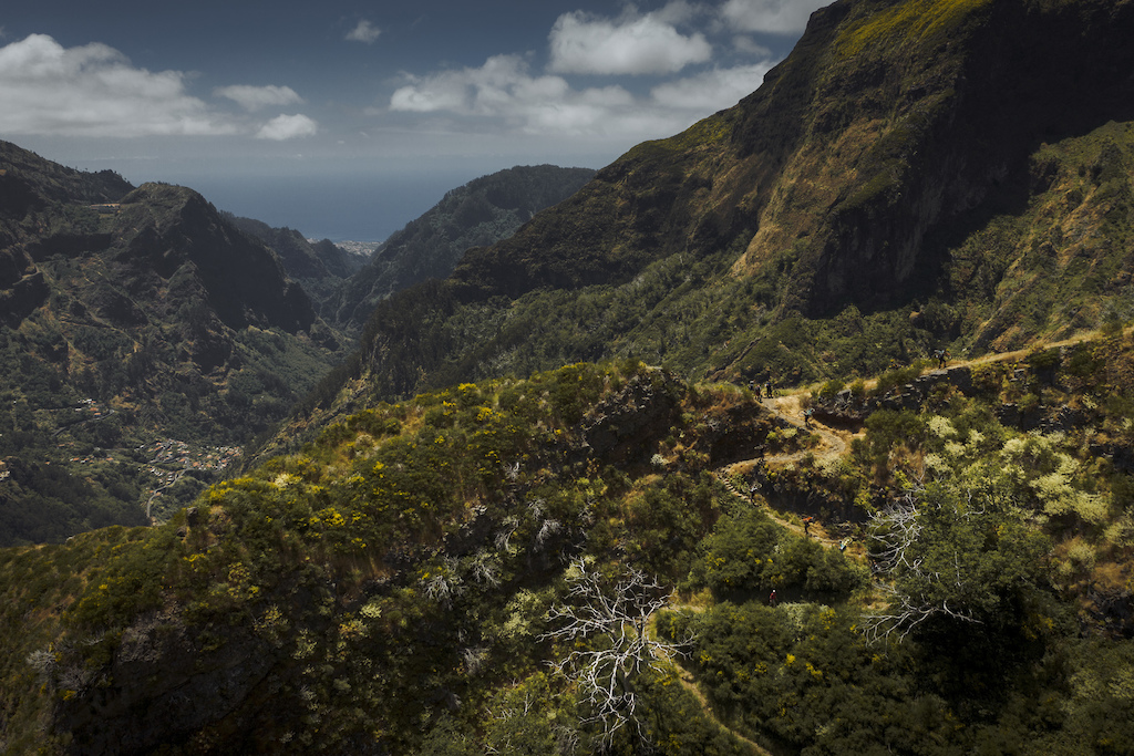 The final switchbacks of the most brutal part of the climb our of nuns valley