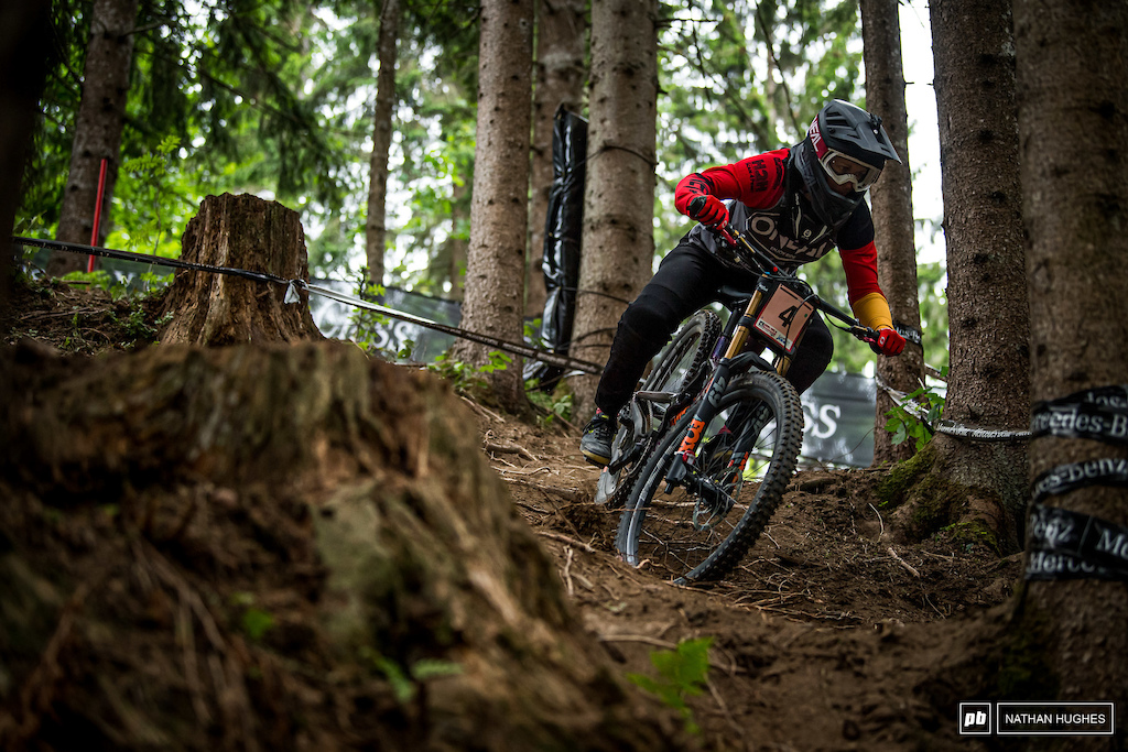 Nina Hoffman looks solid for the podium once again here in Austria. 3rd today.
