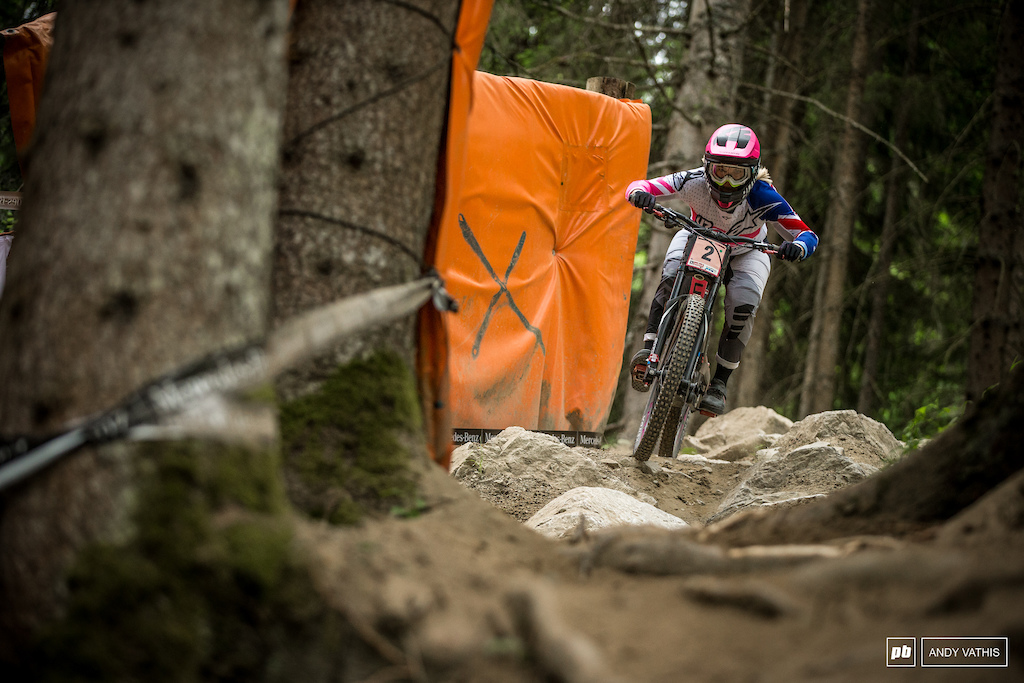 Tracey Hannah went fastest today by a hair over Rachel Atherton.