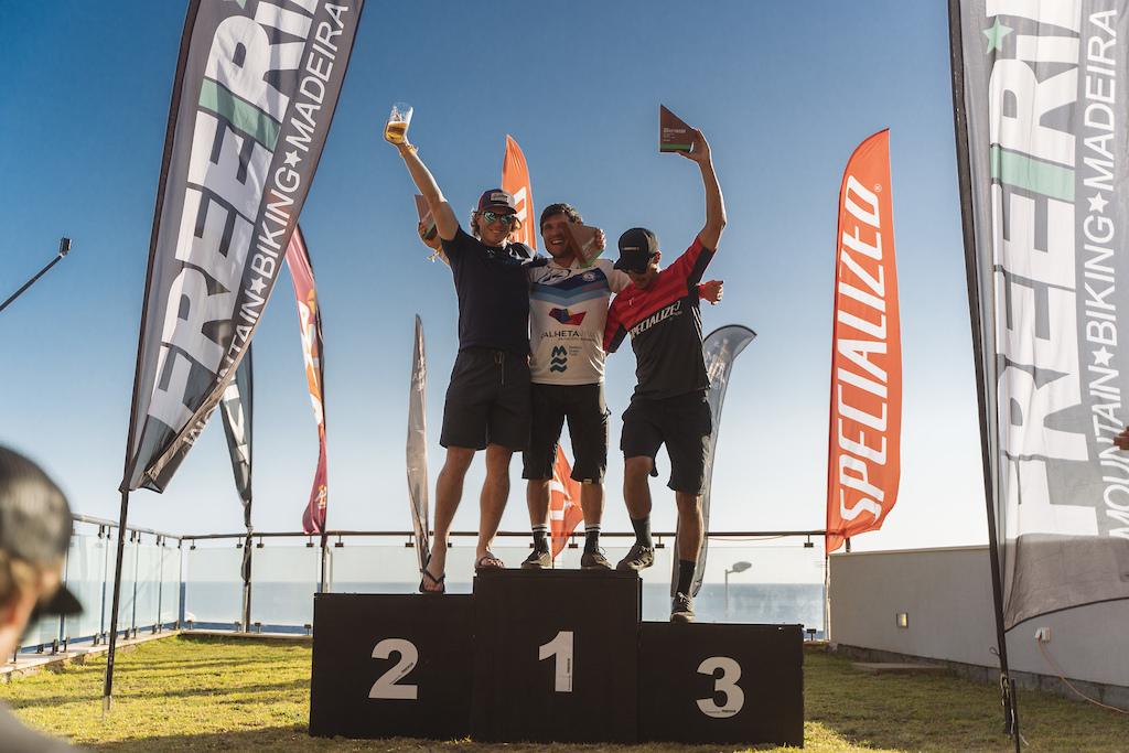 Men podium. 1st Emanuel Pombo, 2nd Matt Lombardi, 3rd Andre Bretas