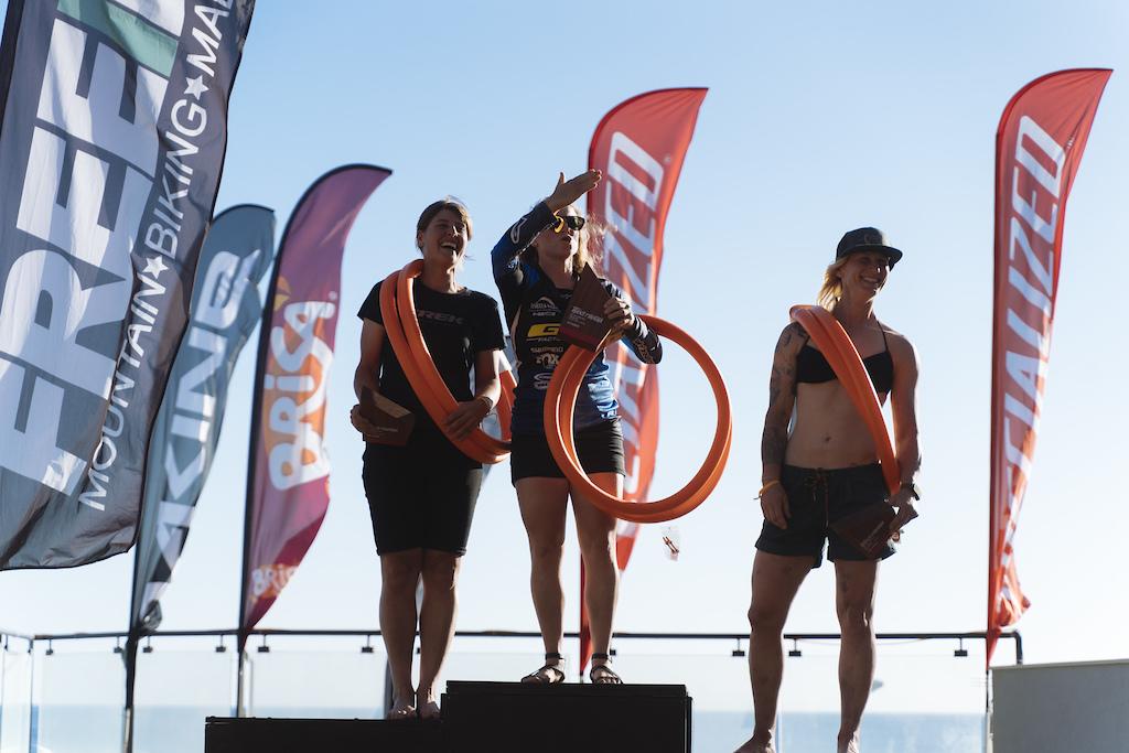 Women podium. 1st Noga Korem 2nd Nathalie Schneitter 3rd Julie Baird