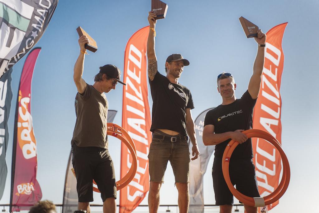 Men 40 podium. 1st Cri Maiererhofer 2nd Antti Laiho 3rd Mark Wilcox