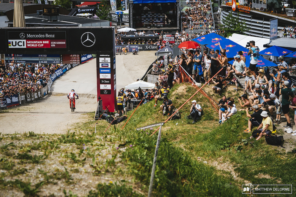 Aaron Gwin's luck has turned around a bit. 5th place today. Hopefully the momentum will carry on to Andorra.