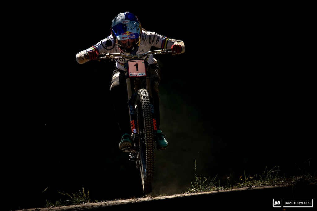 A dark day for Rachel Atherton in Leogang.