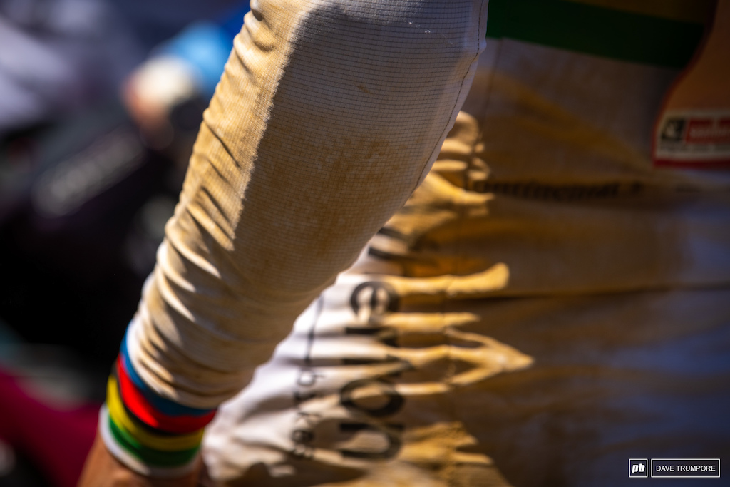 Rachel Atherton's jersey says in all.