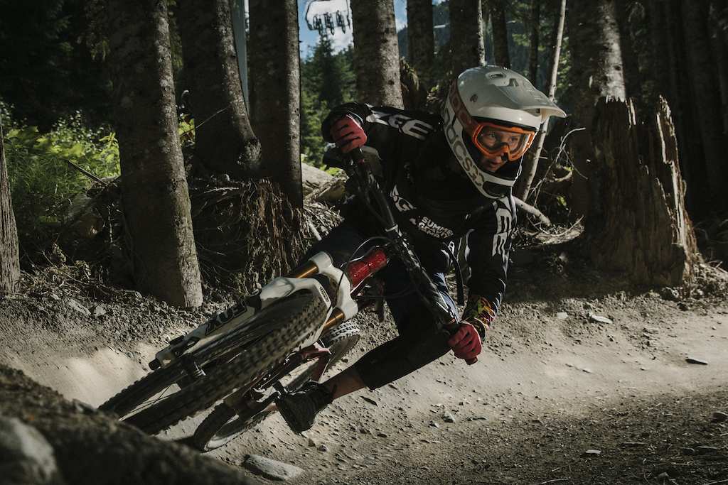 Ethan Shandro as a grom in Whistler Bike Park Summer Gravity Camps