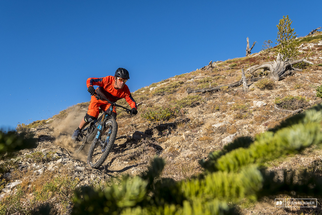 Riding the trails that surround Lakecreek Drainage in the Entiat Mountains near Lake Chelan, WA. imagery is model released