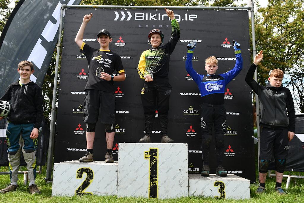 Junior men (14-16) podium